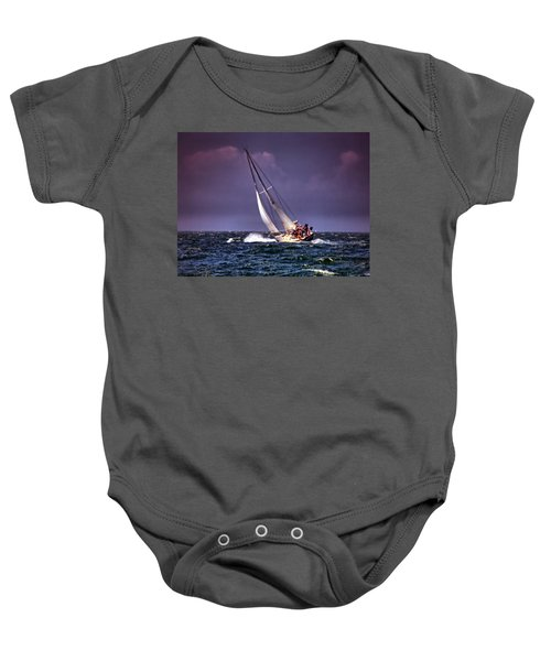 Sailing To Nantucket 001 Baby Onesie