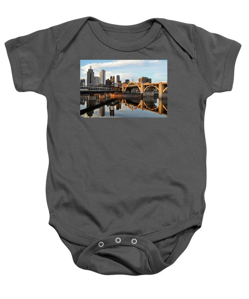 Saint Paul Mississippi River Sunset Baby Onesie