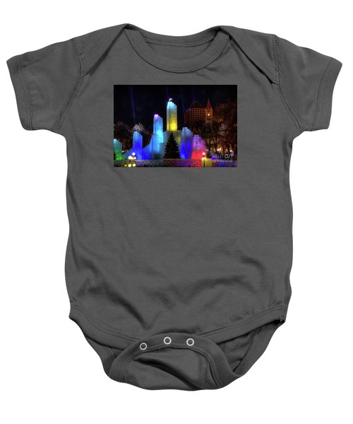 Saint Paul Winter Carnival Ice Palace 2018 Lighting Up The Town Baby Onesie