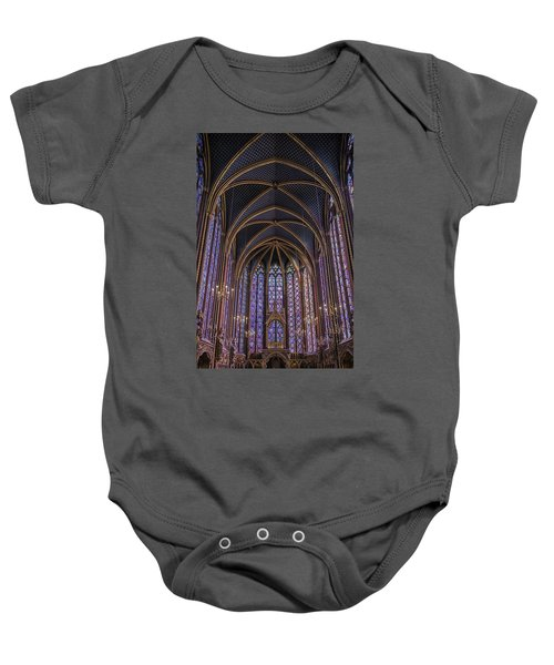 Sainte Chapelle Stained Glass Paris Baby Onesie