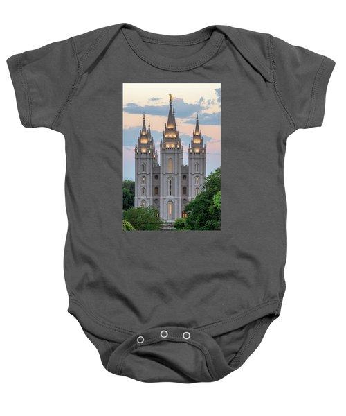 Salt Lake City Temple Morning Baby Onesie