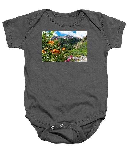 San Juans Indian Paintbrush Landscape Baby Onesie