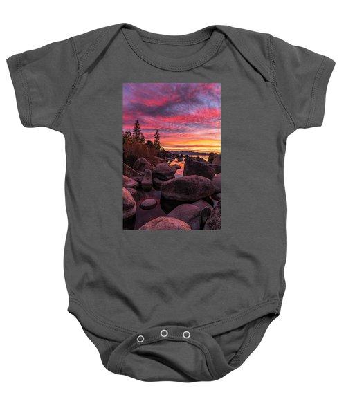 Sand Harbor Beach Baby Onesie