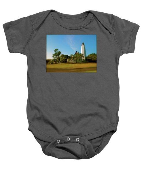 Sandy Hook Lighthouse Baby Onesie