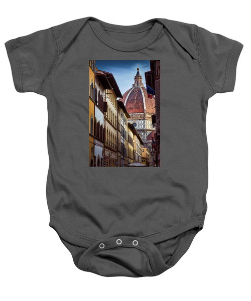 Santa Maria Del Fiore From Via Dei Servi Street In Florence, Italy Baby Onesie