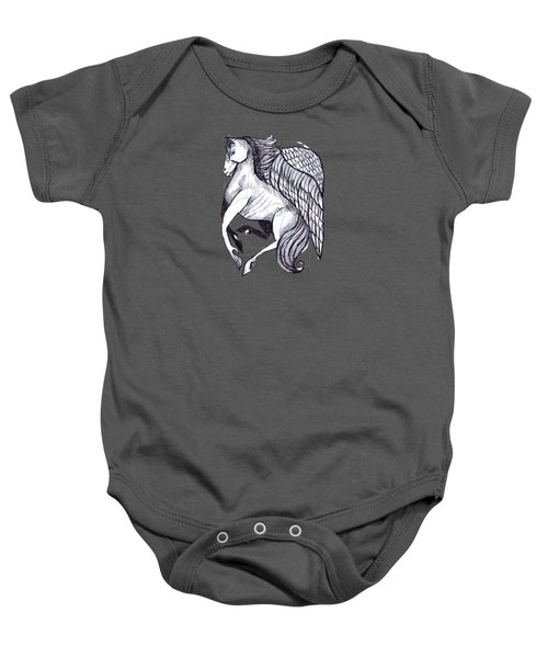 Save The Wild Mustangs Baby Onesie by Joanna Whitney