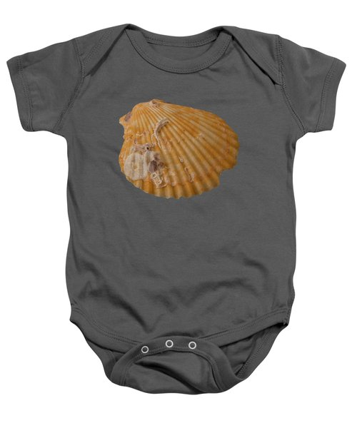 Scallop Shell With Guests Transparency Baby Onesie