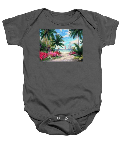 Sea Breeze Trail Baby Onesie