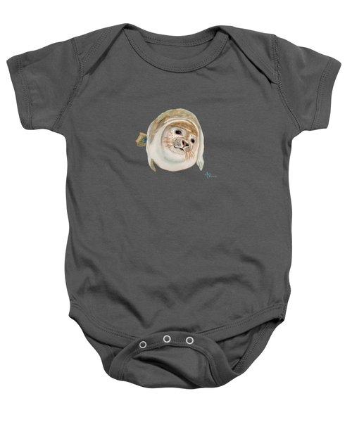 Sea Lion Watercolor Baby Onesie