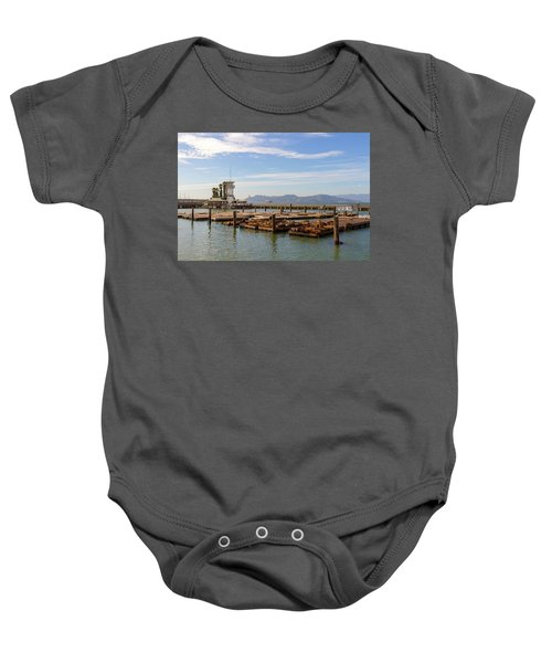 Sea Lions At Pier 39 In San Francisco Baby Onesie