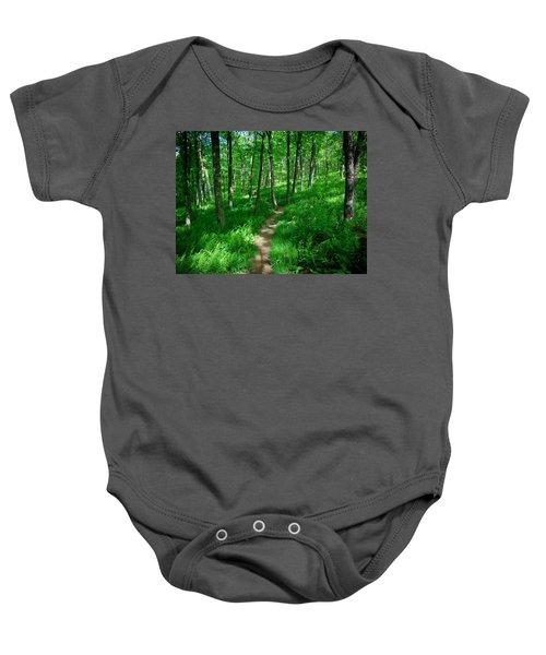 Sea Of Ferns Baby Onesie