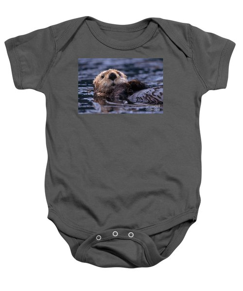 Sea Otter Baby Onesie by Yva Momatiuk and John Eastcott and Photo Researchers
