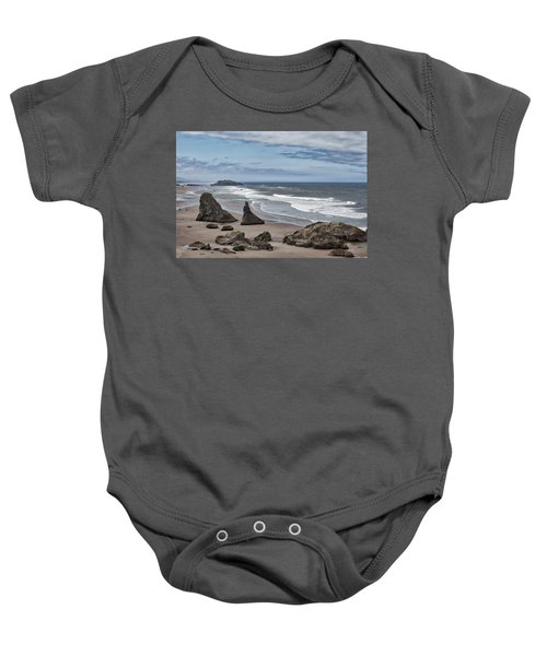 Sea Stacks And Surf Baby Onesie