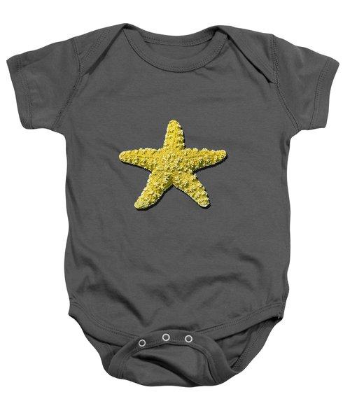 Sea Star Yellow .png Baby Onesie