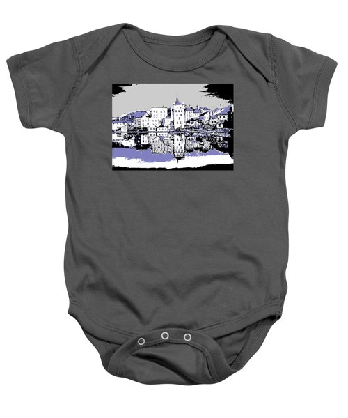 Seaport Mirror Baby Onesie