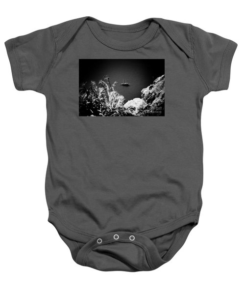 Seascape With Boat Artmif.lv Balck And White Baby Onesie