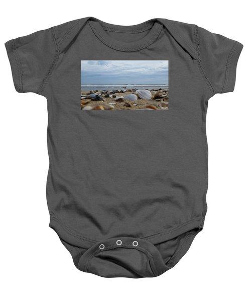 Seashells Seagull Seashore Baby Onesie