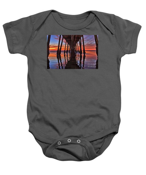Seaside Reflections Under The Imperial Beach Pier Baby Onesie