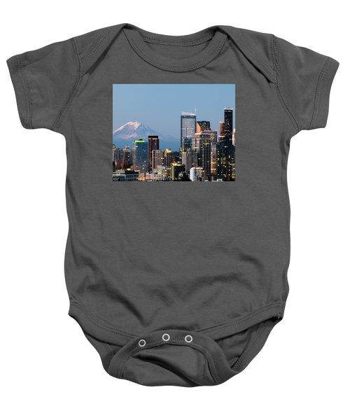 Seattle At First Light II Baby Onesie