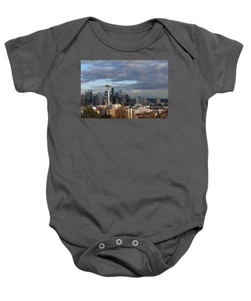 Seattle Skyline Baby Onesie