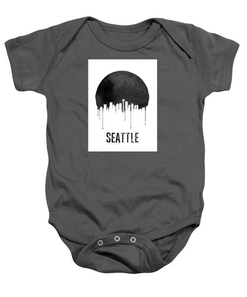 Seattle Skyline White Baby Onesie by Naxart Studio