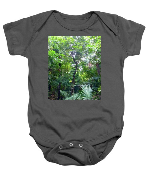 Baby Onesie featuring the photograph Secret Bridge In The Tropical Garden by Francesca Mackenney