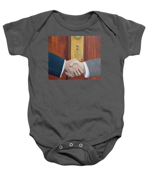 Secret Handshake Baby Onesie