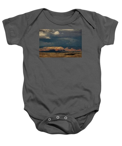 Secret Mountain Wilderness Storm Baby Onesie