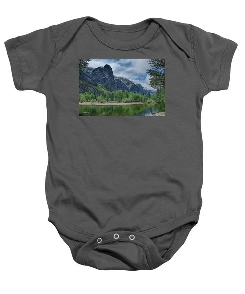 Sentinel Rock After The Storm Baby Onesie by Bill Roberts