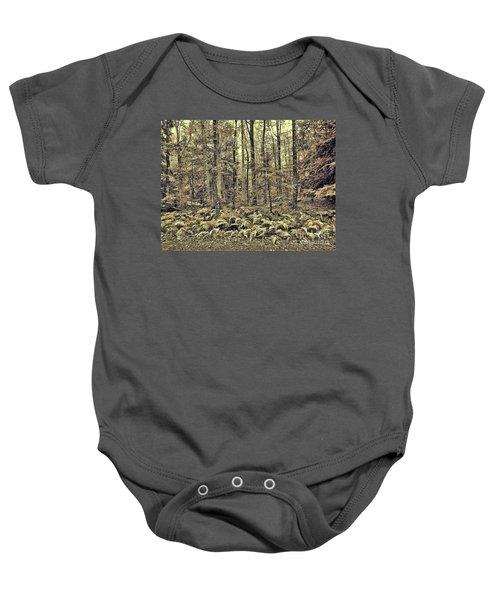 Sepia Landscape Baby Onesie