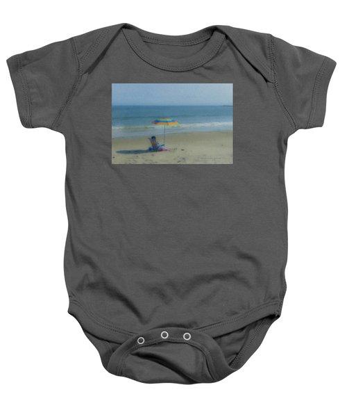 September Beach Reader Baby Onesie