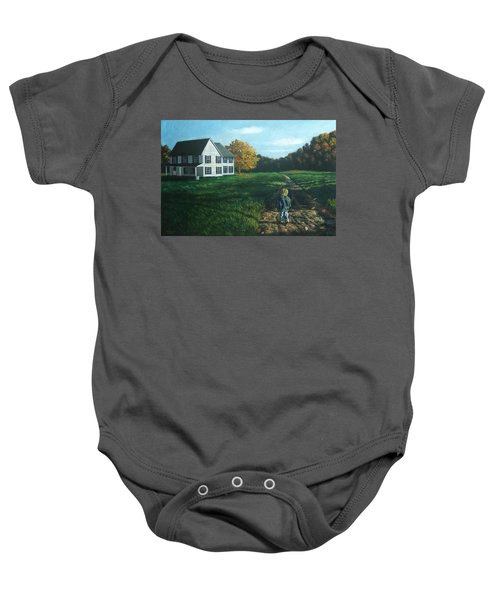September Breeze Number 4 Baby Onesie