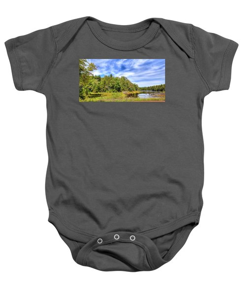 Baby Onesie featuring the photograph Serenity On Bald Mountain Pond by David Patterson