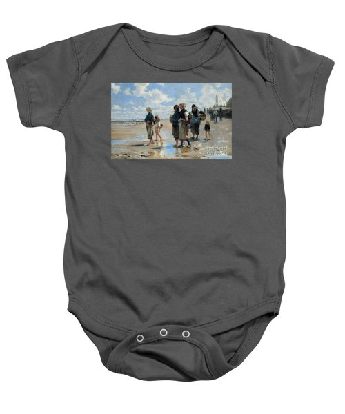 Setting Out To Fish Baby Onesie
