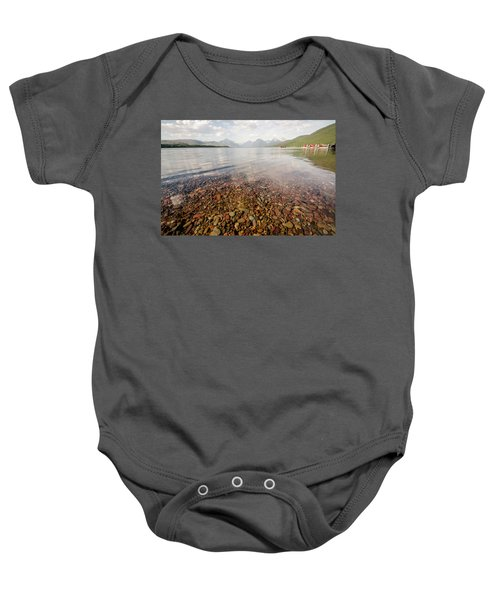 Setting Sun On Lake Mcdonald Baby Onesie