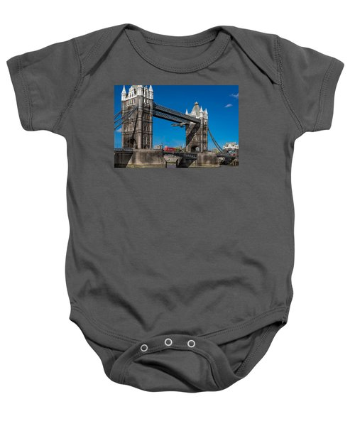 Baby Onesie featuring the photograph Seven Seconds - The Tower Bridge Hawker Hunter Incident  by Gary Eason