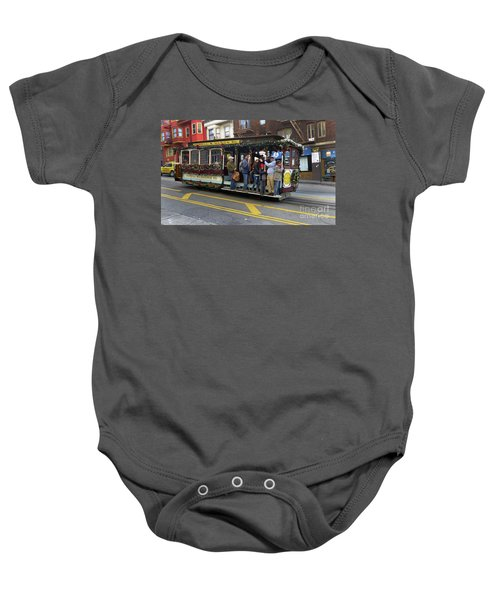 Sf Cable Car Powell And Mason Sts Baby Onesie