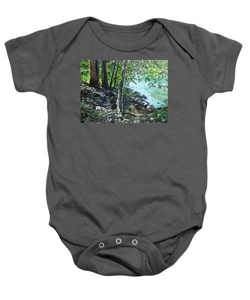 Shadows On The Bank Baby Onesie