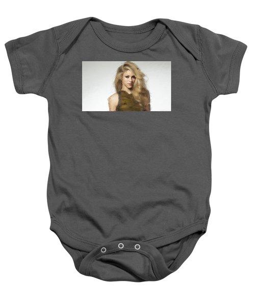Shakira Baby Onesie by Iguanna Espinosa