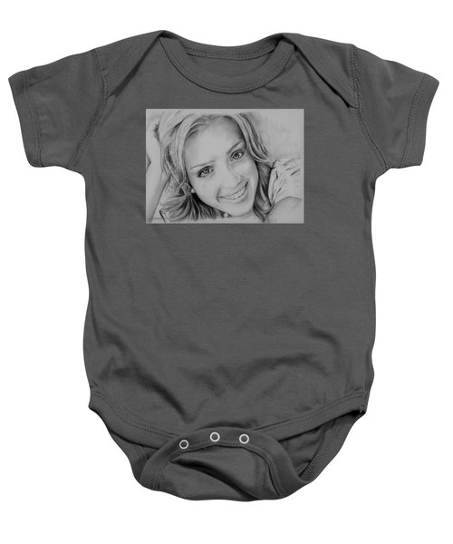 She Smiles Baby Onesie by Jessica Perkins