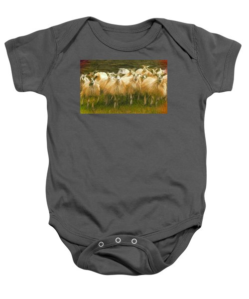 Sheep At Hadrian's Wall Baby Onesie