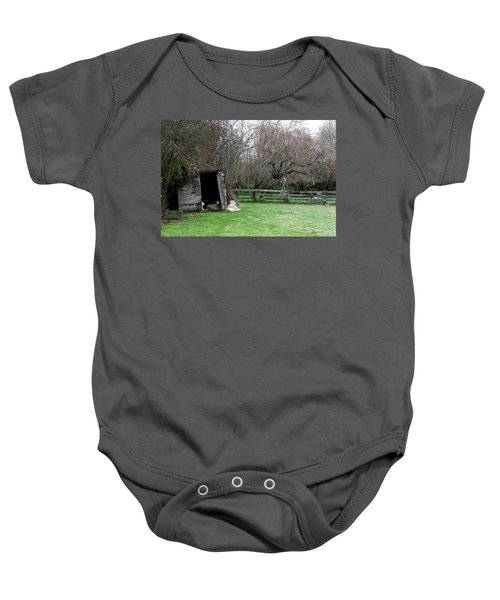 Sheep Shed Baby Onesie