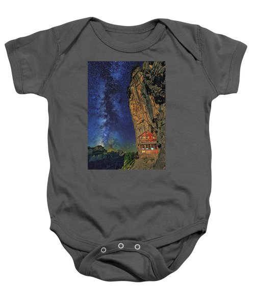 Sheltered From The Vastness Baby Onesie