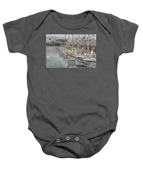 Ships In The Harbor Baby Onesie