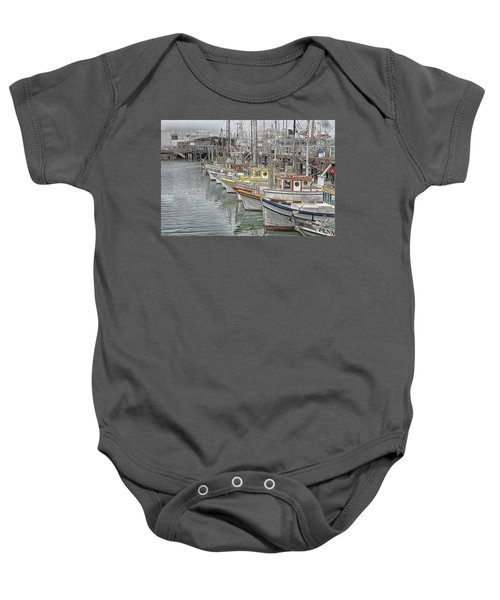 Ships In The Harbor Baby Onesie