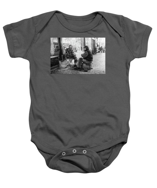 Shoeshine And A Chat  Baby Onesie