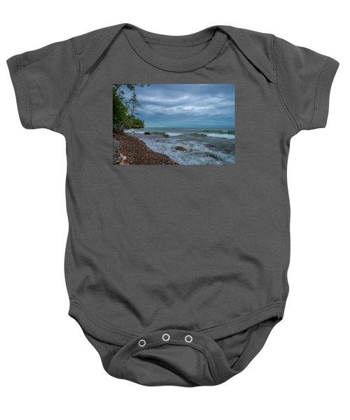 Shoreline Clouds Baby Onesie