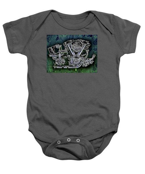 Harley - Davidson Shovelhead Engine Baby Onesie