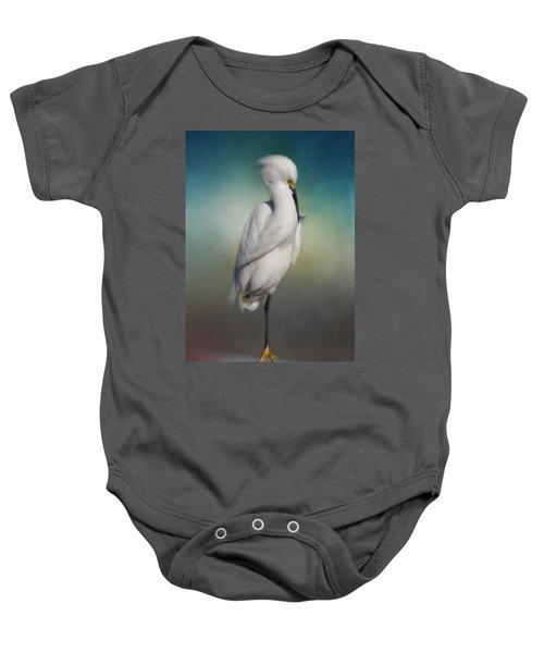 Shy Egret Baby Onesie