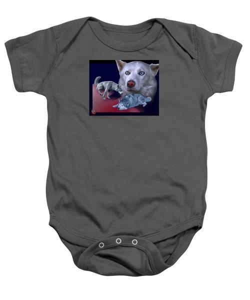 Siberian Husky - Modern Dog Art - 0002 Baby Onesie